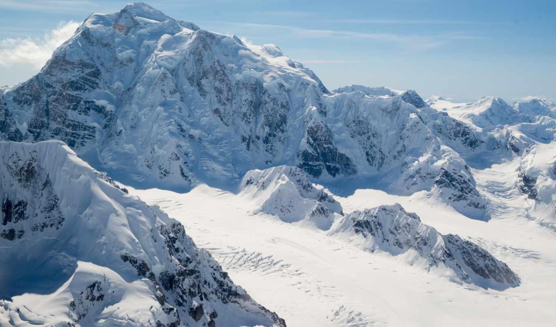 ,гора,снег,солнце, ледник,