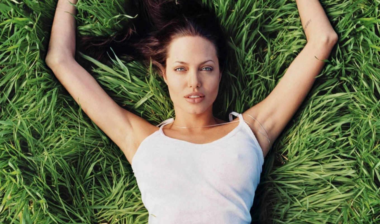 angelina, jolie, celebrity, desktop, الاجانب, celebrities, jpeg, grass, laying,