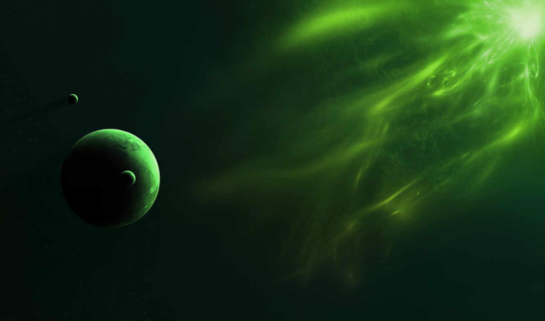 спутники, свет, планета, звезда, излучение,