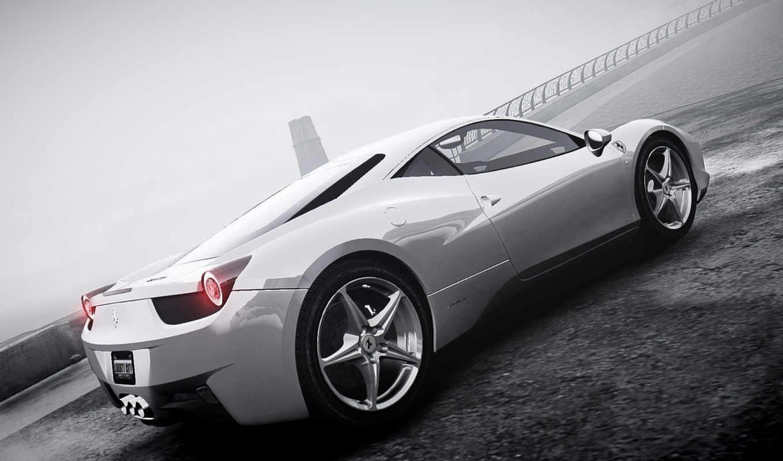 ferrari, туман, italia, gta, машина, красивые, февр,