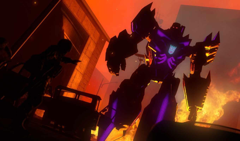 трансформер, shooter, rock, black, decepticon, megatron, art, кроссовер, anime, prime, dark