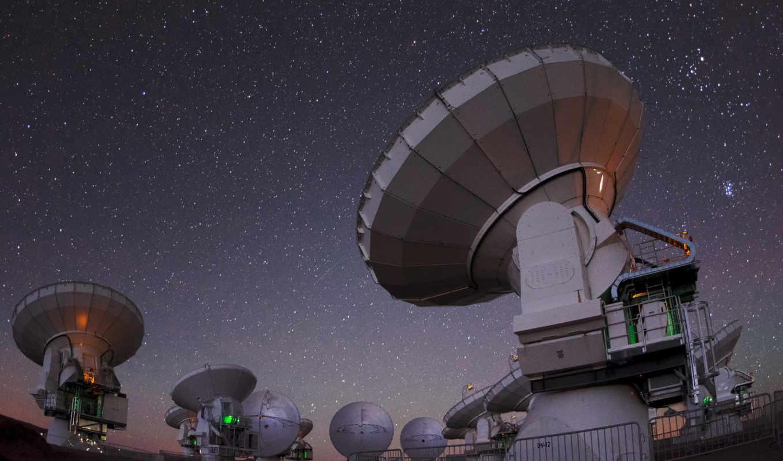 космос, телескоп, небо, ночь, alma, радио, raum,