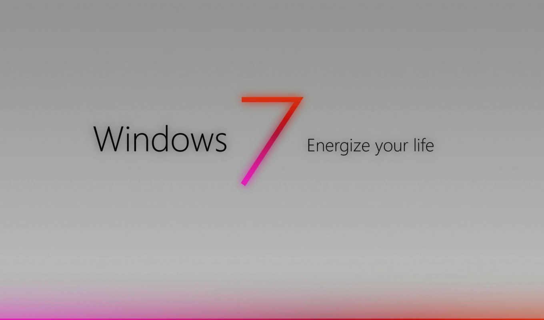 windows, se7en, лого, серый