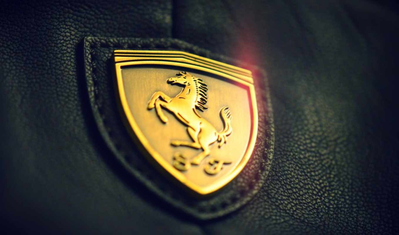 ferrari, логотип, картинку, машины, макро, logo, gold, бренды,