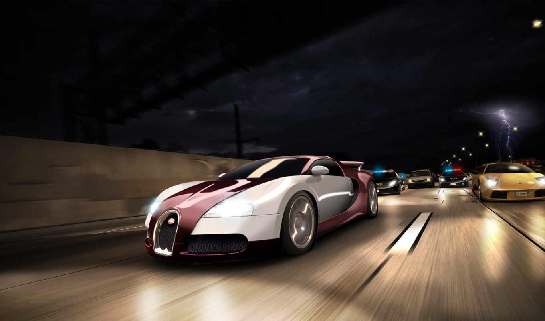 speed, need, погоня, ночная, преступниками, за, run,