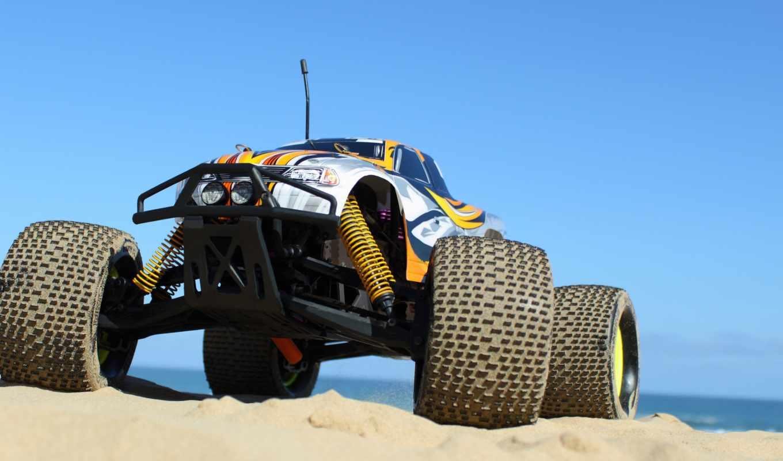 bigfoot, monster, truck, пикап, пляж, плакат, макро, песок,