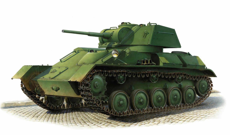 танк, легкий, советский, арт, калибр, ссср, марка,