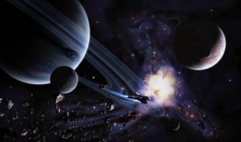 космос, планета, звезды, астероїди, шпалери, кільце, картинка,