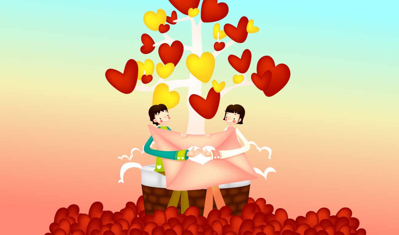 день, pair, влюбленная, валентина,