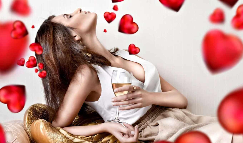 love, день, девушка, сердце, valentine, святая