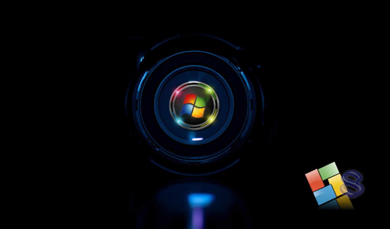 windows, eight, кольца, чёрный, лого