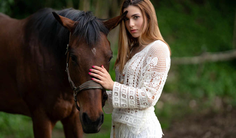 грива, elenon, squassina, marco, russian, красивый, лошадь, поза, девушка, смотреть