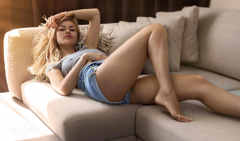 обнаженная, девушка, razdvinut, leg, красивый, sex, porn, диван