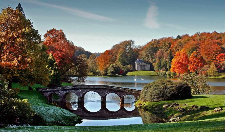 осень, park, природа, мост, free, небо, funart, ук, бесконечность, картинка