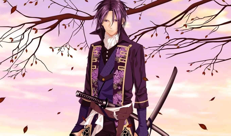 anime, hakuouki, сакуры, демонах, toshizou, сказание, hijikata, хиджиката, тошиджо,
