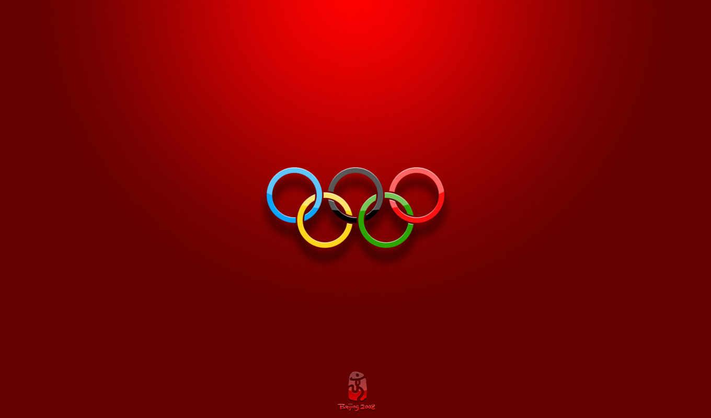 олимпийские, кольца, обои, игр, олимпийских, флаг,