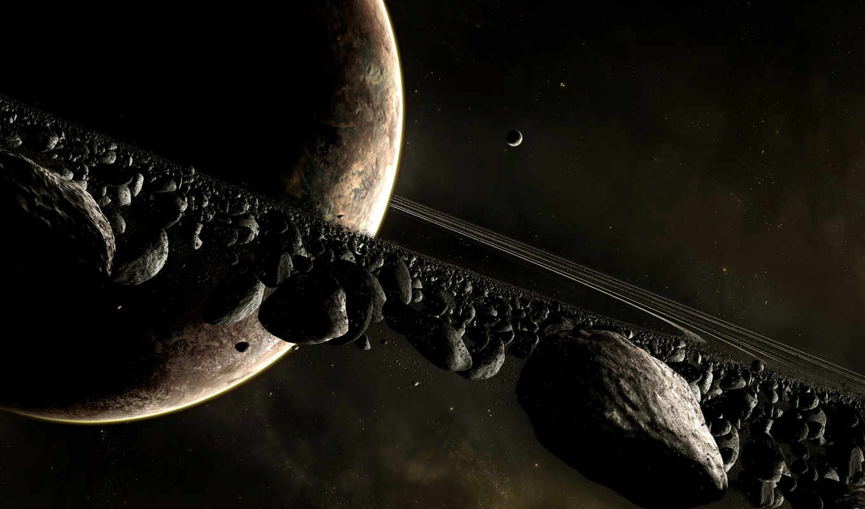 планета, космос, метеориты, кольцо, сатурн, asteroids, planets, meteorite, метеоритов,