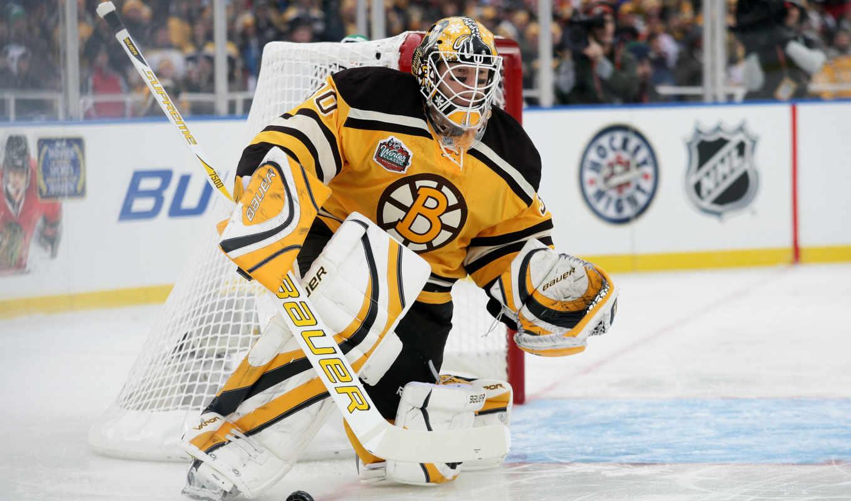 хоккей, boston, голкипер, bruins, thomas, nhl, tim, спорт, картинка,
