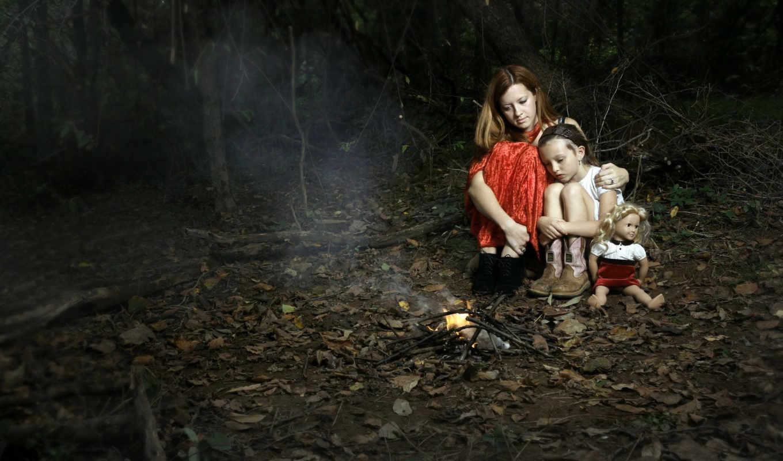 ночь, лес, огонь, заблудились, обстановка, девушка, мама, ситуации,