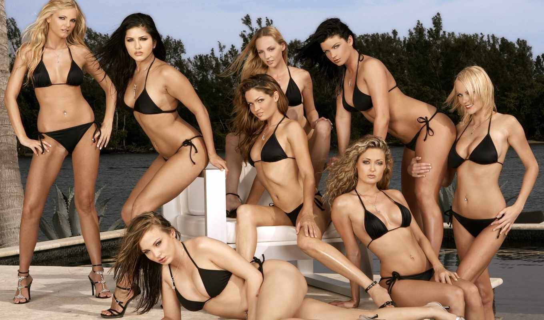 devushki, many, девушек, бикини, купальниках, красотки, красивых,