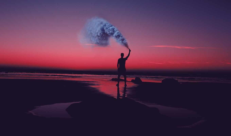 море, vision, спокойствие, water, отражение, сделать, горизонт, актеры, move, human