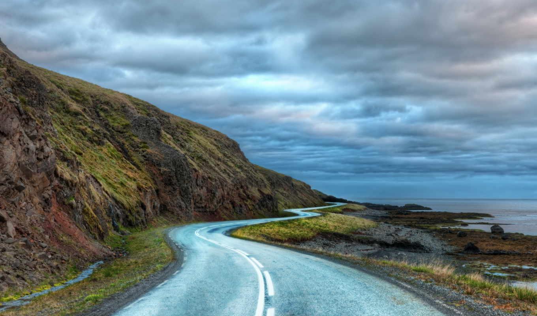 iceland, автомобили, дороги, дорога, асфальт, chevrolet, around, curvy, мост, природа,