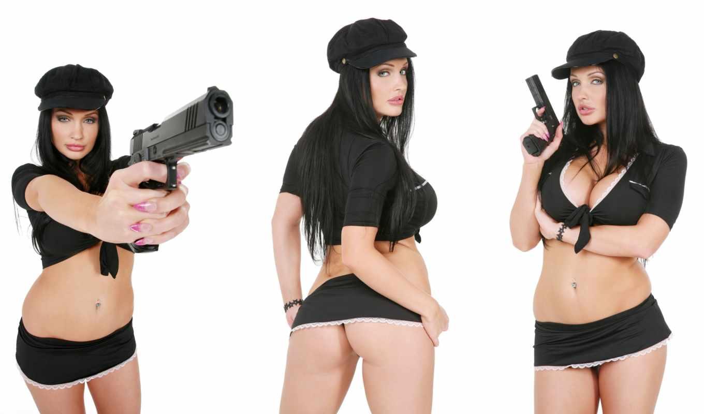 ocean, aletta, пистолет, sexy, девушка, красивые, pornstar, оружие, лицо, смотреть,