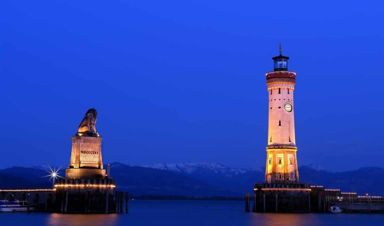 lighthouse, blue, миро, корабль, огонь, entrance, putevodnyi, красивый, standard, harbor