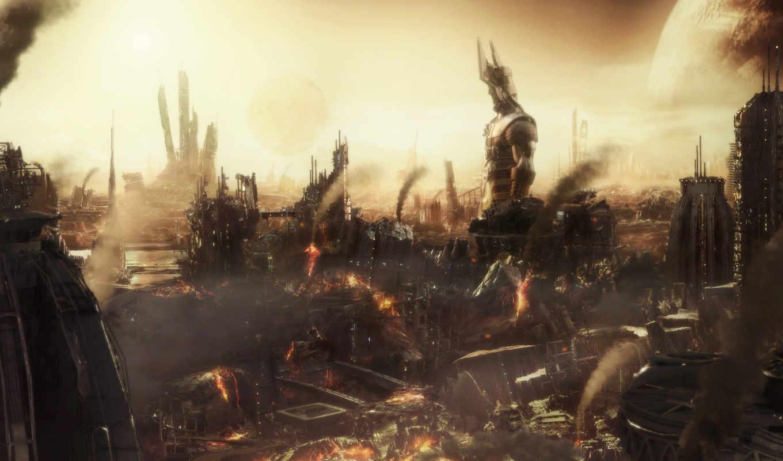 разрушения, статуя, апокалипсис, marvel, galactus, картинка, comics, villains, digital, art,