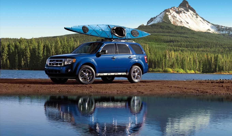 ford, escape, синий, путешествие, бойдарка, картинку, машины, картинка, search, wallpaper,
