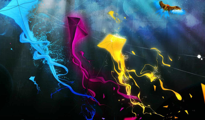 змей, синий, текстура, воздушный, abstract, colorful, kites, kite, download,