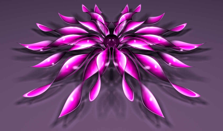 цветок, телефон, абстракции,