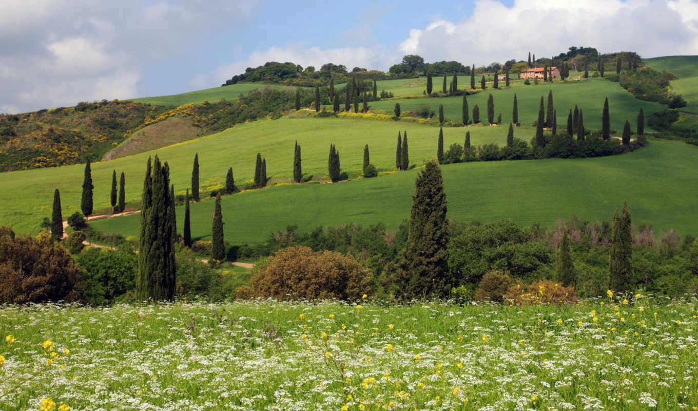 nature, widescreen, page, tuscany, italy, италию,