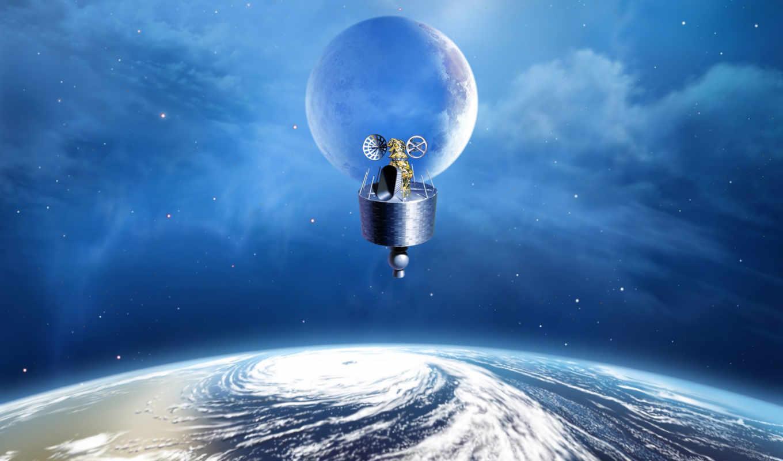 cosmos, космос, дирижабль, полет, мб, день,