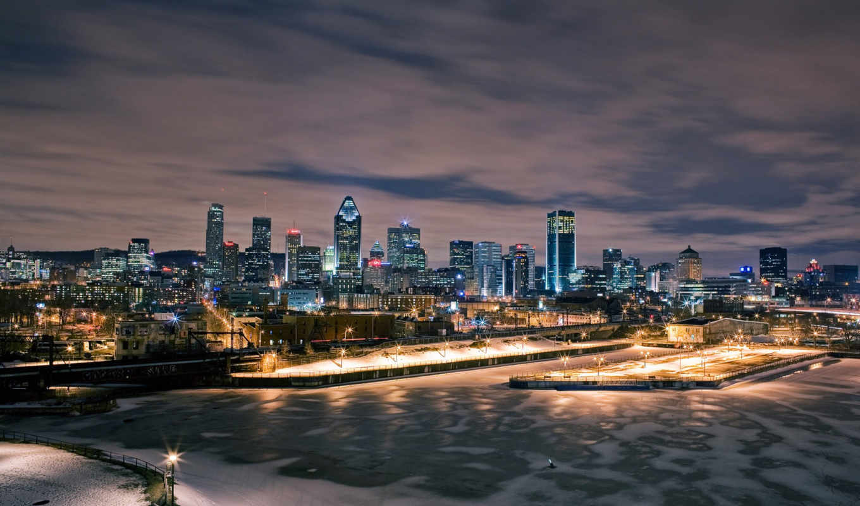 ,город, winter, закат,панорама,