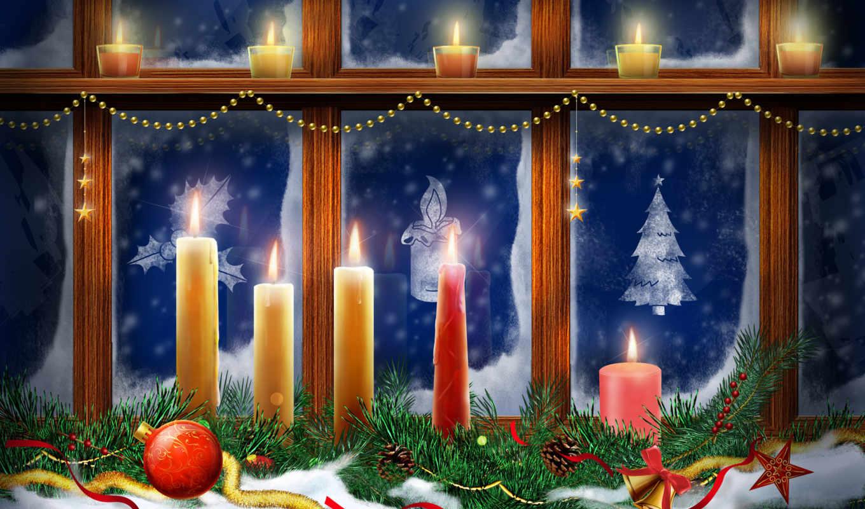 свечи, рождественские, christmas,