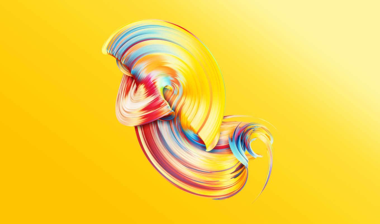 paintwave, yellow, desktop, resolutions,