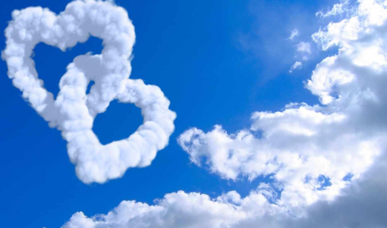 облако, сердце, небо, настроение, landscape, креатив