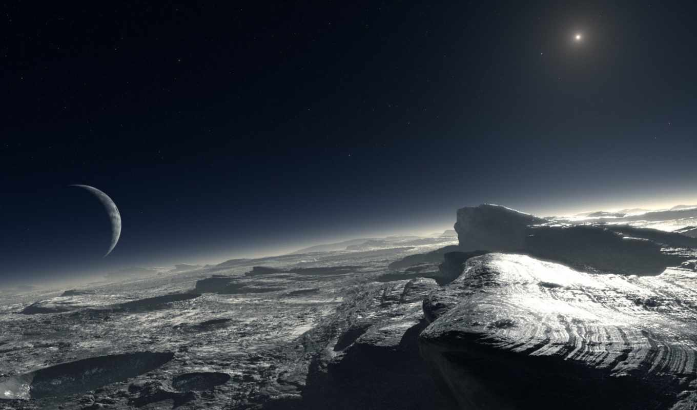 pluto, планета, звезда, спутник, кратер, calçada, хочешь, плутона, eso, pianeta, artist, abbandonato, побыстрее, наоборот, вырасти, sun, ты, планеты, charon, луна, космос, surface, год,