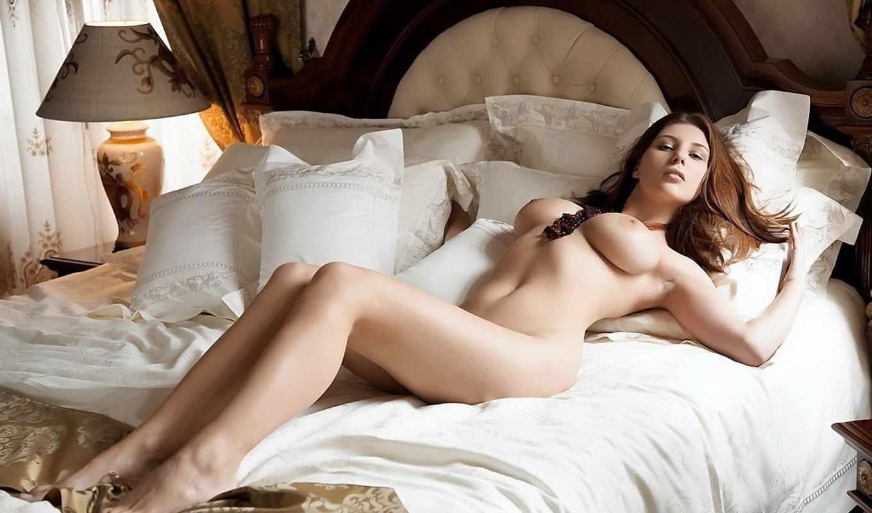 девушка, голая, кровати, фотографий, лежит, изображение, огромной, коллекции, картинка, девушки,