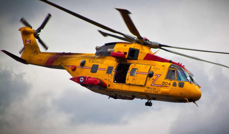 вертолет, авиация, желтый, категория, совершенно, polet,