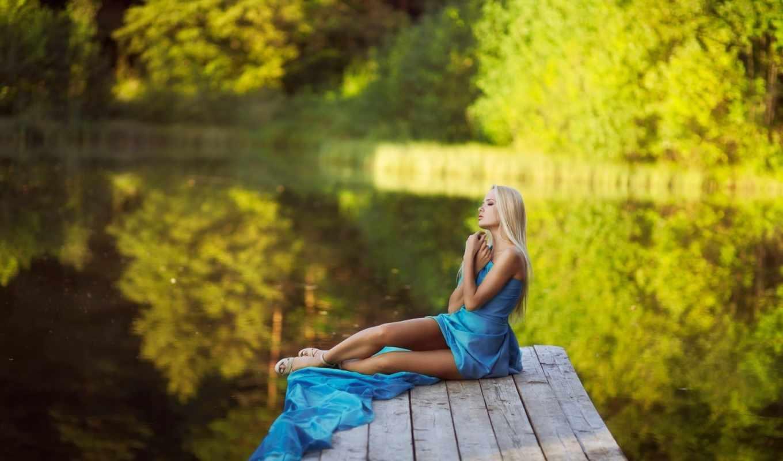девушка, природа, devushki, blonde, природе,