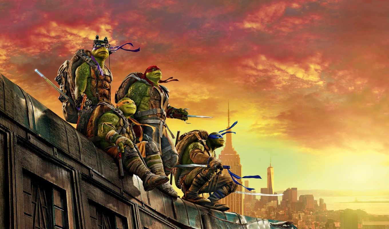teenage, ninja, turtles, mutant, out, shadows, черепашки,