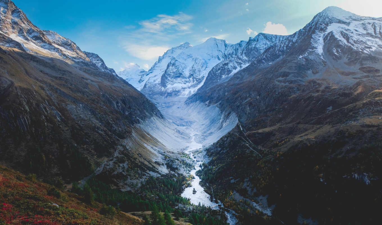 ,, mountainous landforms, каньон, речной, гора, нагорье, горный хребет, природа, долина, фьорд, Альпы, Швейцария,