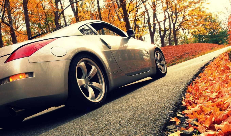 осень, авто, дорога, взгляд, автомобили, машины,