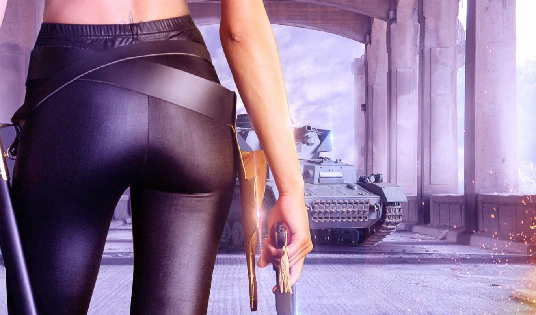 revolver, девушка, оружие, rendering, рисунки,