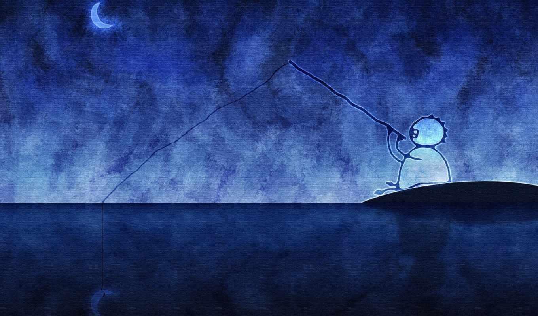 рыбалка, прикольные, луну,