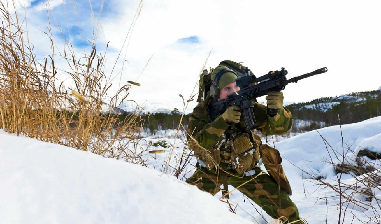 norwegian, армия, солдат, оружие, значок,