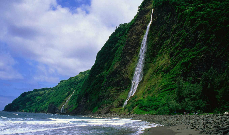 море, hawaii, ocean,