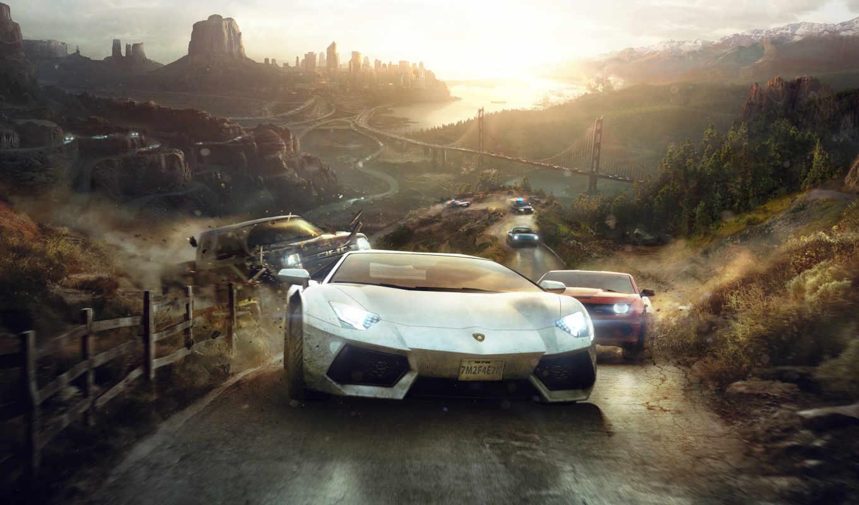 game, игры, crew, автомобили, desktop, race,